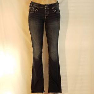 Silver Suki Fluid Mid Slim Boot Cut Jeans